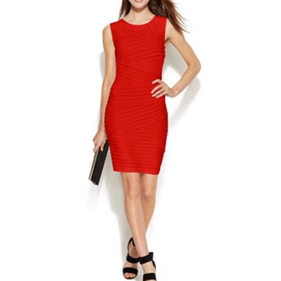 82823c8726d6e NEW Calvin Klein Red Sleeveless Dress